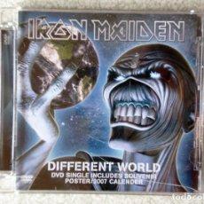 CDs de Música: IRON MAIDEN.DIFFERENT WORLD..DVD 3 TEMAS...RARO. Lote 211722551