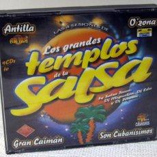 CDs de Música: LOS GRANDES TEMPLOS DE LA SALSA, 4 CDS. Lote 211774656