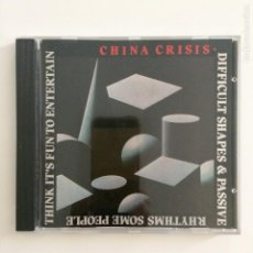 CDs de Música: CHINA CRISIS – DIFFICULT SHAPES & PASSIVE RHYTHMS, SOME PEOPLE THINK IT'S FUN TO ENTERTAIN UK 1987. Lote 211813282