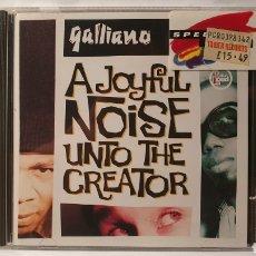 CDs de Música: CD/ GALLIANO/ A JOYFUL NOISE UNTO THE CREATOR/ ACID JAZZ / ( REF. E). Lote 211821170