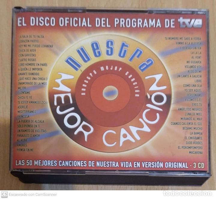 NUESTRA MEJOR CANCIÓN - 3 CD'S 2004 RTVE (SERRAT, MIGUEL RIOS, AUTE, SABINA, NINO BRAVO, MOCEDADES.) (Música - CD's Otros Estilos)