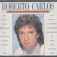 CDs de Música: ROBERTO CARLOS DOBLE CD TODOS SUS GRANDES ÉXITOS 1988 SUS 20 MEJORES CANCIONES. Lote 211836850