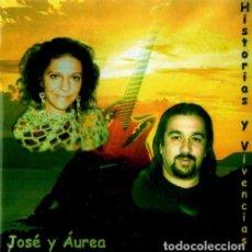 CDs de Música: JOSE Y AUREA. HISTORIAS Y VIVENCIAS. TROVADORES URBANOS DE VIGO. GALICIA. CD. PRECINTADO.. Lote 211851116