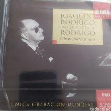 CDs de Música: JOAQUÍN RODRIGO INTERPRETA A RODRIGO / OBRAS PARA PIANO / CD ORIGINAL SIN DESPRECINTAR. Lote 211873971