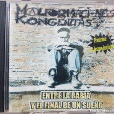 CDs de Música: MALFORMACIONES KONGÉNITAS - ENTRE LA RABIA Y EL FINAL DE UN SUEÑO - PUNK ROCK CANARIO - 2000 - RARO. Lote 211891603