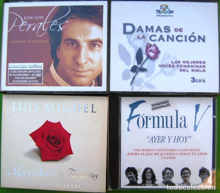 LOTE 7 CDS Y 2 DVDS (JOSE LUIS PERALES, LUIS MIGUEL, FORMULA V, DAMAS DE LA CANCIÓN) (Música - CD's Pop)
