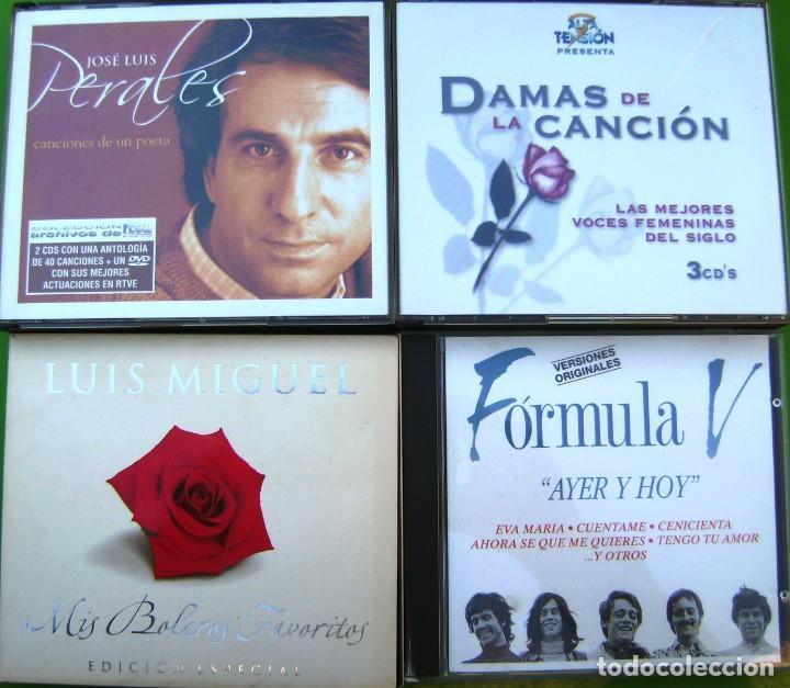 CDs de Música: Lote 7 CDs y 2 DVDs (Jose Luis Perales, Luis Miguel, Formula V, Damas de la Canción) - Foto 2 - 211922831
