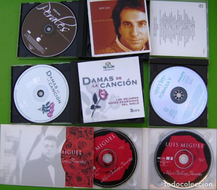 CDs de Música: Lote 7 CDs y 2 DVDs (Jose Luis Perales, Luis Miguel, Formula V, Damas de la Canción) - Foto 4 - 211922831