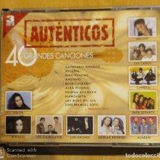 CDs de Música: AUTENTICOS - 3 CD'S 2001 (MELODY, LOLITA, LOS CHICHOS, CAMARON, CAMELA, MIGUEL BOSE, LAS GRECAS...). Lote 211933346