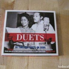 CDs de Música: CD DUETS 2 CD´S GRABACIONES AÑOS 40 Y 50 DEAN MARTIN SARAH VAUGHAN JUDY GARLAND SAMMY DAVIS. Lote 211960338