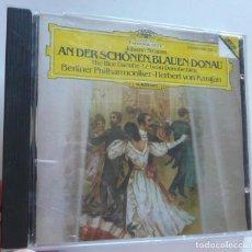 CDs de Música: CD JOHANN STRAUSS AN DER SCHÖNENE BLAUEN DONAU - VON KARAJAN BERLINER PHILARMONIKER. Lote 211969538