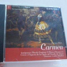 CDs de Música: CD CARMEN - GEORGES BIZET (LAS MEJORES ÓPERAS DE LA HISTORIA, EL MUNDO). Lote 211971583