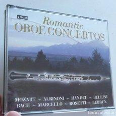 CDs de Música: ROMANTIC OBOE CONCERTOS. MOZART, ALBINONI, HANDEL, BELLINI, BACH, MARCELLO, ROSETTI, LEBRUN (2 CDS). Lote 211971791