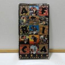 CDs de Música: AFRICA - NEVER STAND STILL (ESTUCHE 3 CDS + LIBRETO). Lote 211976783