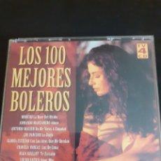 CDs de Música: ESTUCHE DE 4 CDS LOS 100 MEJORES BOLEROS. ENVIO GRATIS. Lote 212040671