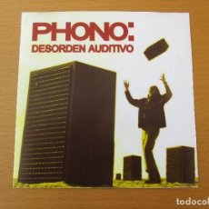 CDs de Música: PHONO DESORDEN AUDITIVO DEMO MAQUETA 1998 6 CANCIONES INDIE. Lote 212082037