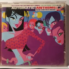 CDs de Música: CD/ AUTOMATIC ANTHEMS/ NEW BRITISH HOUSE / (REF.F.1). Lote 212125982