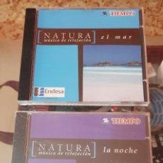 CDs de Música: LOTE 2 CD'S MÚSICA DE RELAJACIÓN - NATURA - TIEMPO - EL MAR - LA NOCHE. Lote 212160358