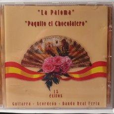 CDs de Música: CD/ LA PALOMA/ PAQUITO CHOCOLATERA/ 15 ÉXITOS/ (REF.F. 2). Lote 212219903