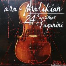CDs de Música: 2 X CD ALBUM , ARA MALIKIAN , 24 CAPRICHOS DE PAGANINI. Lote 212252516