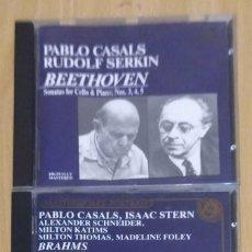 CDs de Música: LOTE 2 CD'S MUSICA CLASICA (BRAHMS: SEXTET - BEETHOVEN: 3 CELLO SONATAS / CASALS - SERKIN). Lote 212260910