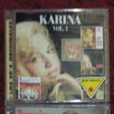 CDs de Música: KARINA (LOS EP'S ORIGINALES VOL. 1 Y VOL. 2) 2 CD'S INDIVIDUALES 1996 * PRECINTADOS. Lote 212274041