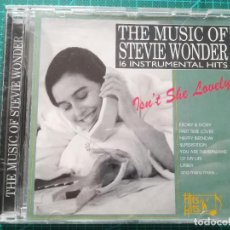 CDs de Música: THE MUSIC OF STEVIE WONDER - 16 INSTRUMENTAL HITS - CD. Lote 212337718