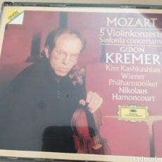 CDs de Música: GIDON KREMER / MOZART SINFONIA CONCERTANTE / 2 CDS ORIGINALES. Lote 212484467