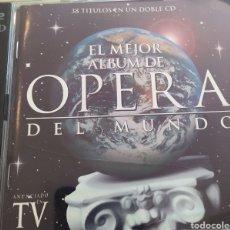 CDs de Música: EL MEJOR ALBUM DE ÓPERA DEL MUNDO / 2 CDS ORIGINALES / 38 TÍTULOS EN UN DOBLE CD. Lote 212595972