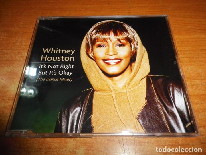 WHITNEY HOUSTON IT´S NOT RIGHT BUT IT´S OKAY REMIXES CD SINGLE 1999 EU PORTADA DE PLASTICO 4 TEMAS (Música - CD's Jazz, Blues, Soul y Gospel)