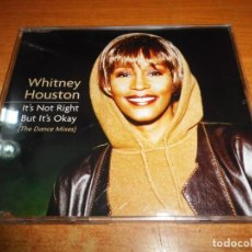 CDs de Música: WHITNEY HOUSTON IT´S NOT RIGHT BUT IT´S OKAY REMIXES CD SINGLE 1999 EU PORTADA DE PLASTICO 4 TEMAS. Lote 212726311