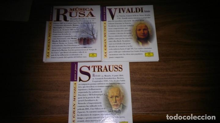 CDs de Música: Genios de la Música (Naxos) + La Gran Musica Paso a Paso (Detusche grammophon) - 10 CDS libro - Foto 6 - 212832471