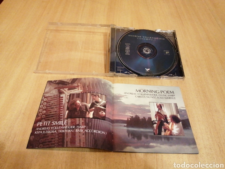 CDs de Música: Andreas Vollenweider. Cosmopoly. Kepa Junkera, Carlos Núñez, Carly Simon, Milton Nascimento, etc.. - Foto 4 - 212845588