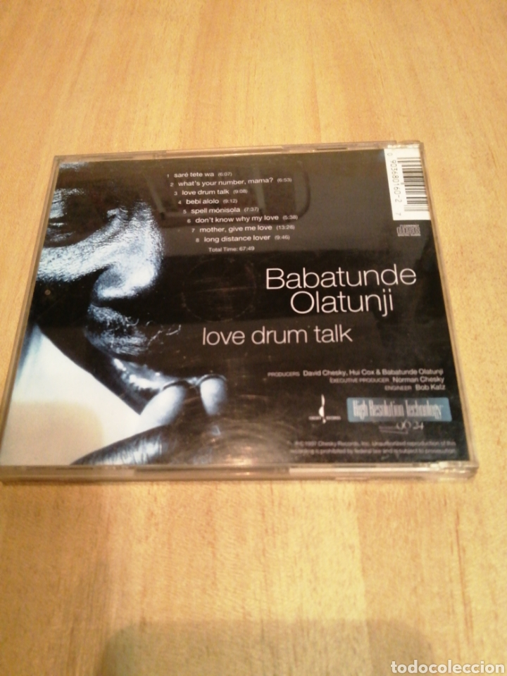 CDs de Música: Babatunde Olatunji. Love drum talk. - Foto 3 - 212846747