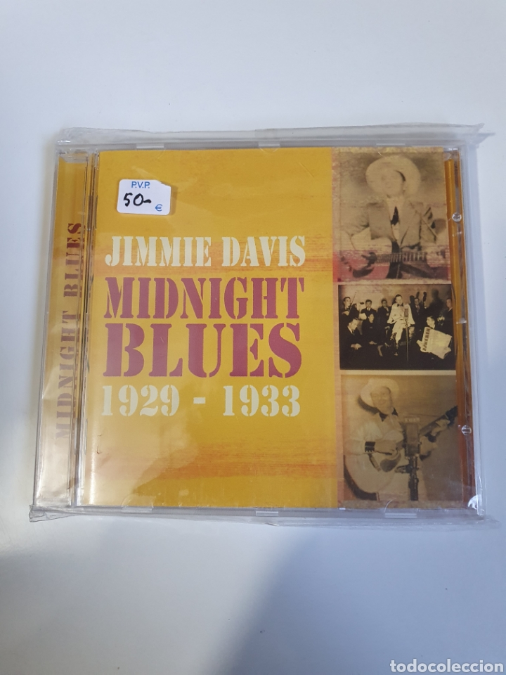 JIMMIE DAVIS ?– MIDNIGHT BLUES 1929-1933, ACROBAT MUSIC, ACMCD 4220, 2007, UK, TEMAS EN DESCRIPCIÓN (Música - CD's Jazz, Blues, Soul y Gospel)