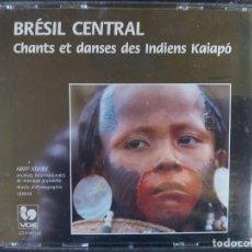 CDs de Música: BRÉSIL CENTRAL, CHANTS ET DANCES DES INDIENS KAIAPÓ (2CDS). Lote 212879222