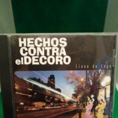 CDs de Música: HECHOS CONTRA EL DECORO – LINEA DE FUGA CD 2000 HIP HOP, ROCK. Lote 212906720