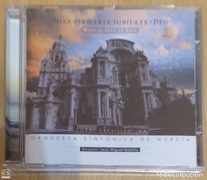 MISA PLENARIA IUBILATE DEO (MANUEL SECO DE ARPE) CD 2001 ORQUESTA SINFONICA DE MURCIA (Música - CD's Clásica, Ópera, Zarzuela y Marchas)