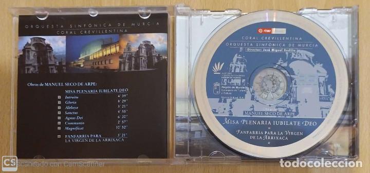 CDs de Música: MISA PLENARIA IUBILATE DEO (MANUEL SECO DE ARPE) CD 2001 ORQUESTA SINFONICA DE MURCIA - Foto 3 - 212930922