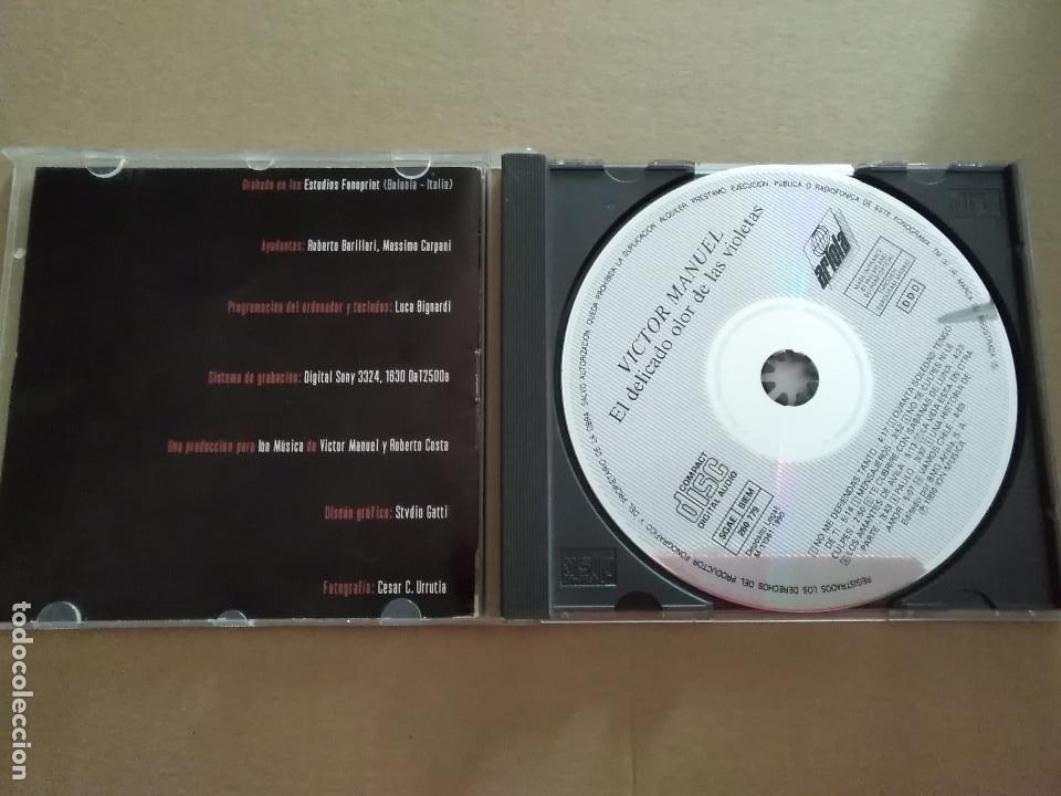 CDs de Música: CD - VÍCTOR MANUEL - EL DELICADO OLOR DE LAS VIOLETAS - Foto 3 - 212959056
