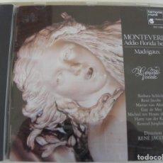 CD de Música: ADIO FLORIDA BELLA MADRIGAUX / RENE JACOBS / CD. Lote 213005167