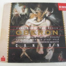 CD de Música: OBERON / JAMES CONLON 2 CDS + LIBRETTO. Lote 213012633