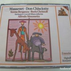 CD de Música: DON CHISCIOTTE / ALFREDO SIMONETTO 2 CDS + LIBRETTO. Lote 213013093