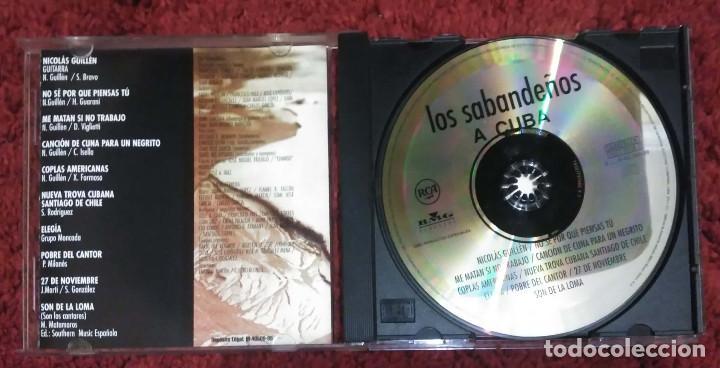 CDs de Música: LOS SABANDEÑOS (A CUBA) CD 1999 - NICOLAS GUILLEN - NUEVA TROBA CUBANA - Foto 3 - 213023805