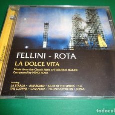 CDs de Música: FEDERICO FELLINI / NINO ROTA / BANDAS SONORAS / LA DOLCE VITA, LA STRADA, AMARCORD, THE CLOWNS... CD. Lote 213076323