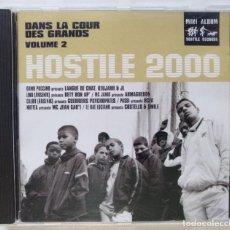 CDs de Música: HOSTILE 2000 VOL.2 - DANS LA COUR DES [FRANCIA HIP HOP / RAP] [ EDICIÓN ORIGINAL CD ] [[2000]]. Lote 213110517