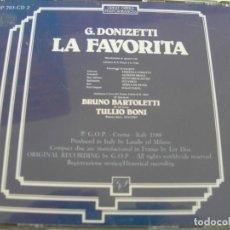 CD de Música: LA FAVORITA / BRUNO BARTOLETTI / 2 CDS. Lote 213157083