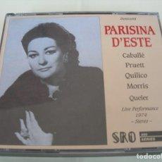 CD de Música: PARISINA D´ESTE / EVE QUELER / 2 CDS. Lote 213158080