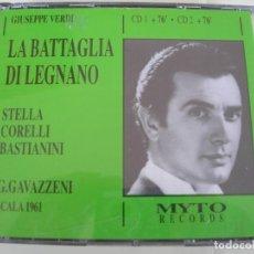 CD de Música: LA BATTAGLIA DI LEGNANO / GIANANDREA GAVAZZENI / 2 CDS. Lote 213165983