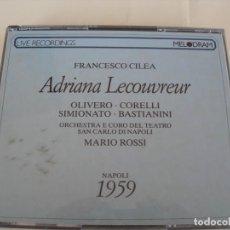 CD de Música: ADRIANA LECOUVREUR / MARIO ROSSI / 2 CDS + LIBRETTO. Lote 213168675